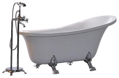 "Vanity Art Free Standing Acrylic Bathtub, White, 31""x69"""