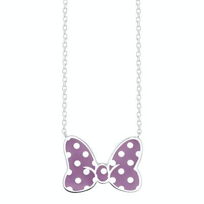 Minnie Mouse Bow Necklace Violet