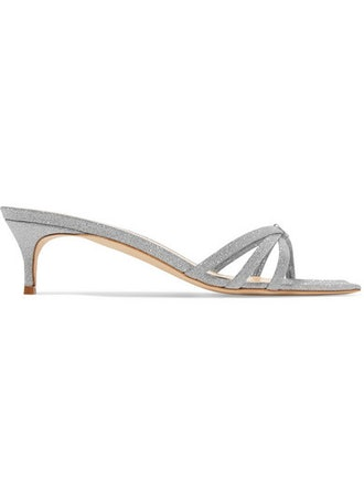 Libra Glittered Leather Sandals