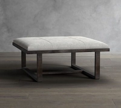 Griffin Square Hair on Hide Ottoman