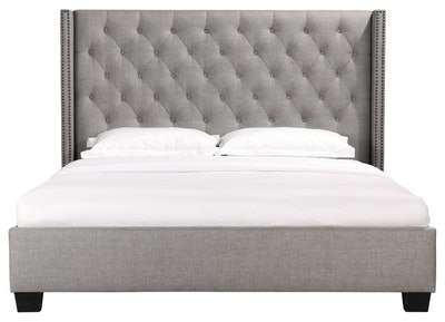 Combe Upholstered Bed With Nailhead Trim, King