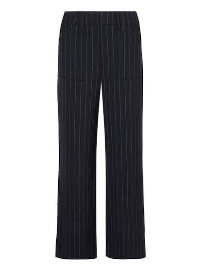 Hewitt Pinstriped Cady Straight-Leg Pants