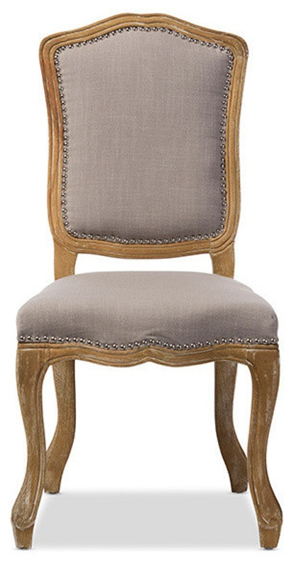Chateauneuf French Vintage Cottage Dining Side Chair, Beige