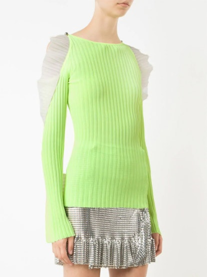 Cut-Out Ruffle Jumper