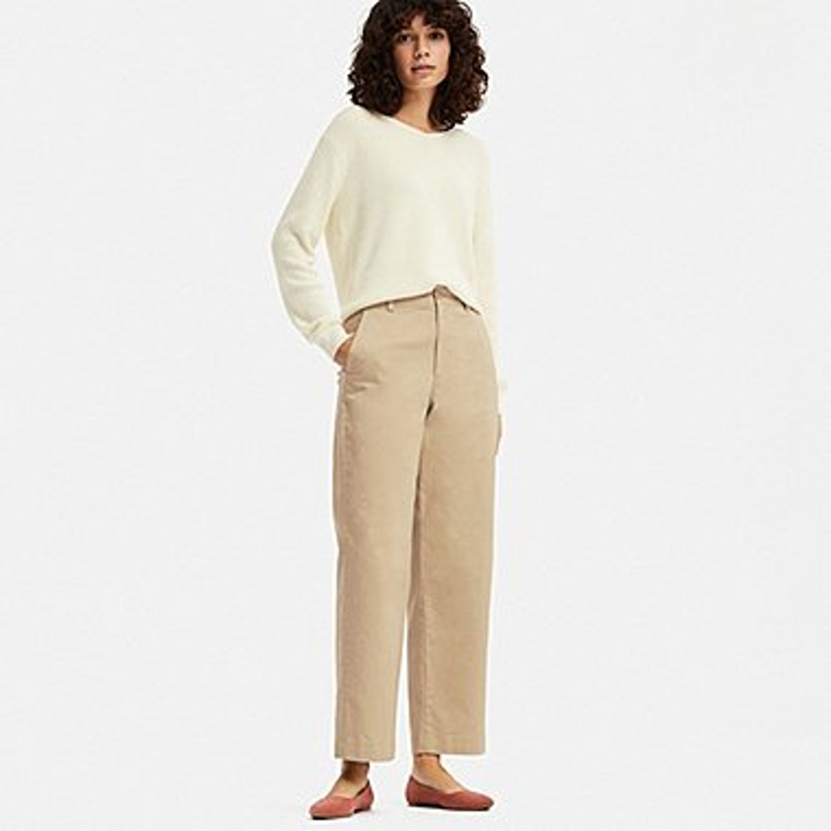 High- Waisted Wide Straight Pant