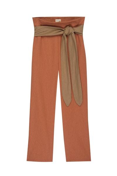Linen Flora Pants