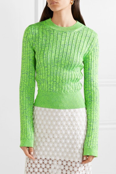 Space-Dyed Ribbed-Knit Sweater