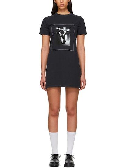 Black 'Basic Step' T-Shirt Dress