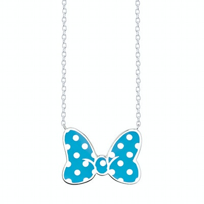 Minnie Mouse Bow Necklace Cerulean