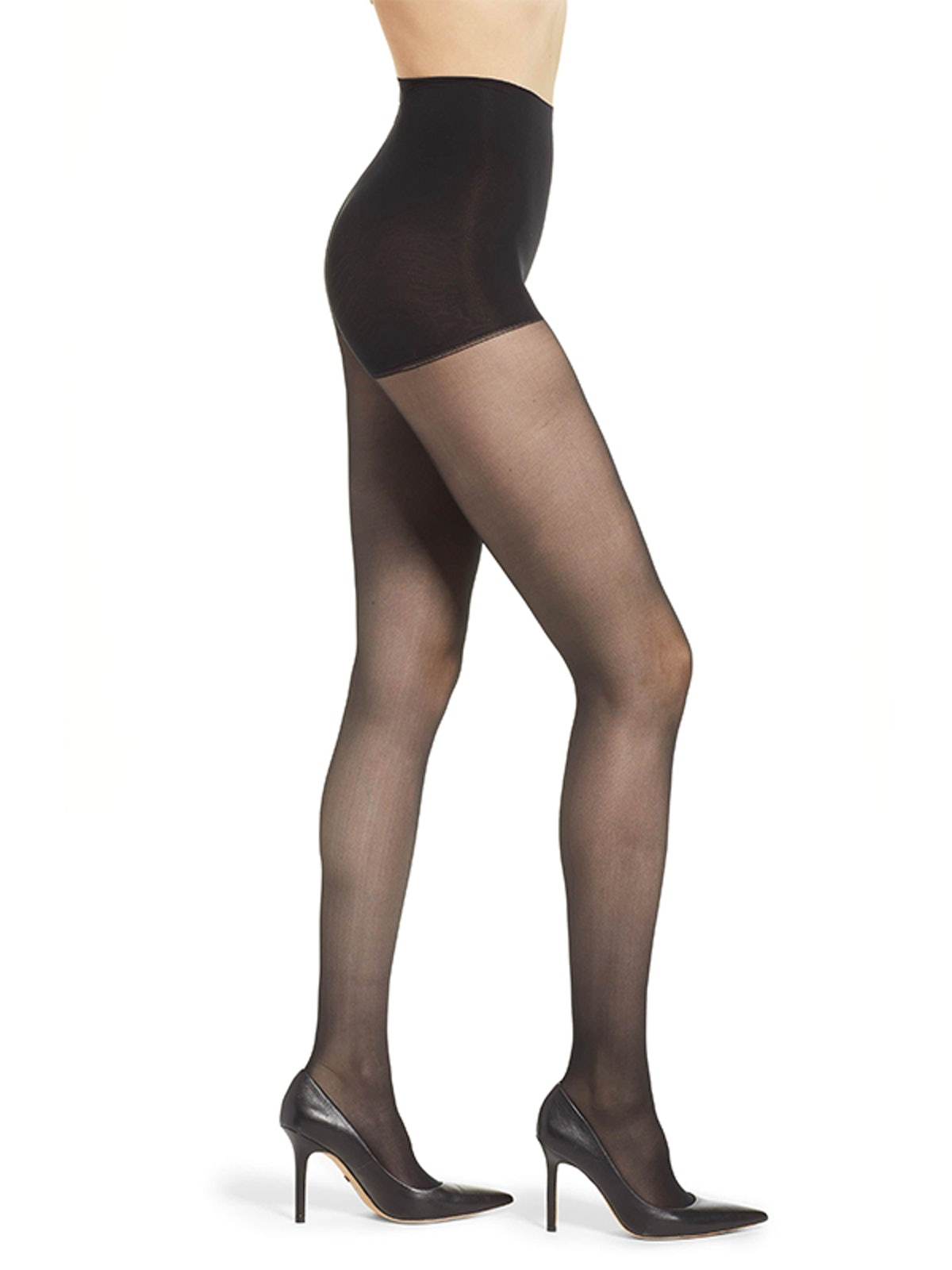 Light Opaque Control Top Tights