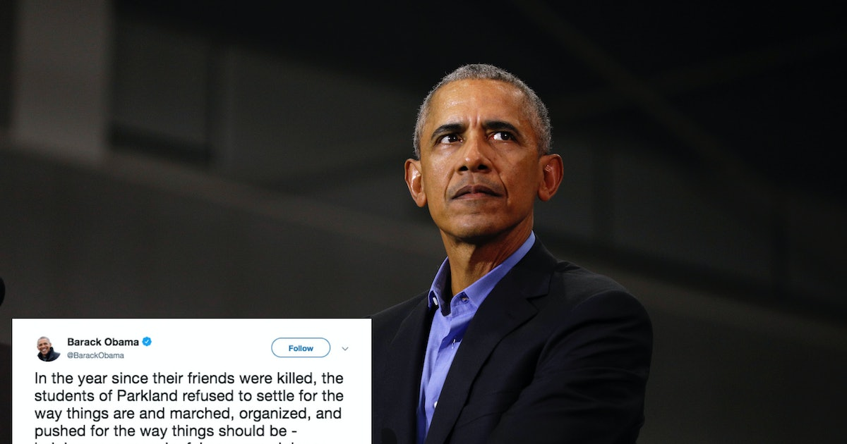 Barack Obama's Parkland Anniversary Tweet Will Bring Tears To Your Eyes