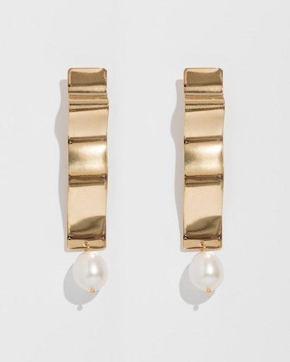 Gold Lunette Earrings
