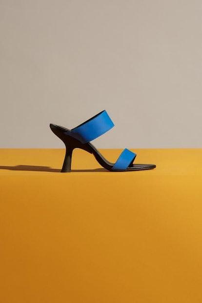 Tall Tee Heel 95mm in Cobalt