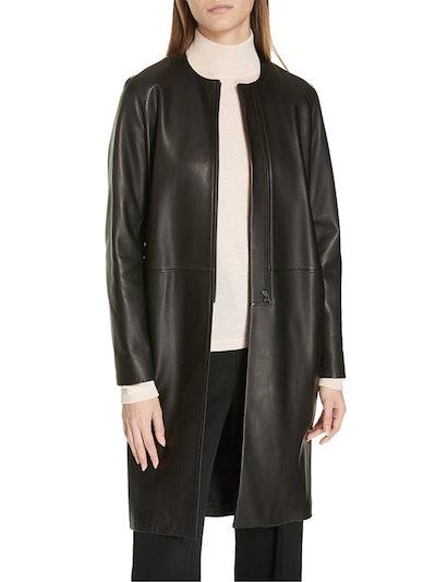 Lambskin Leather Coat