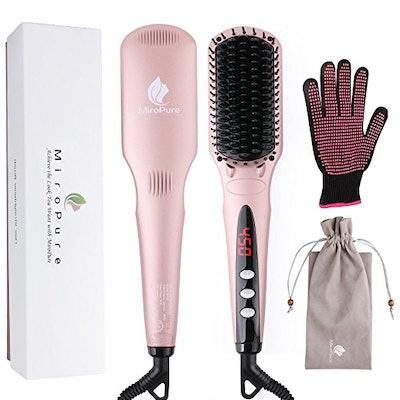 MiroPure 2 in 1 Ionic Hair Straightener Brush