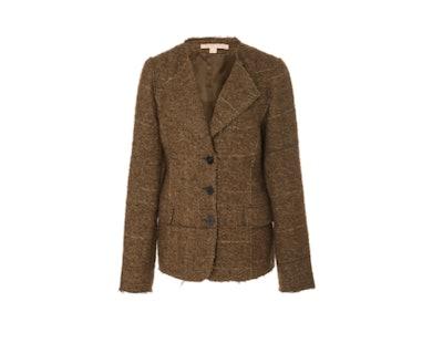 Brock Collection Portman Single-Breasted Collarless Bouclé Jacket
