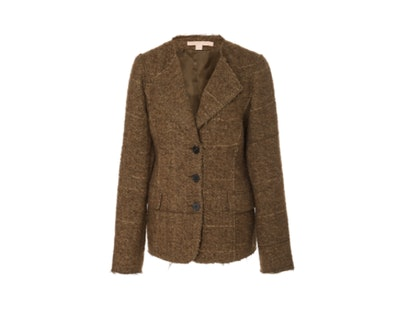Brock Collection Portman Single-Breasted Collarless Bouclé Jacket