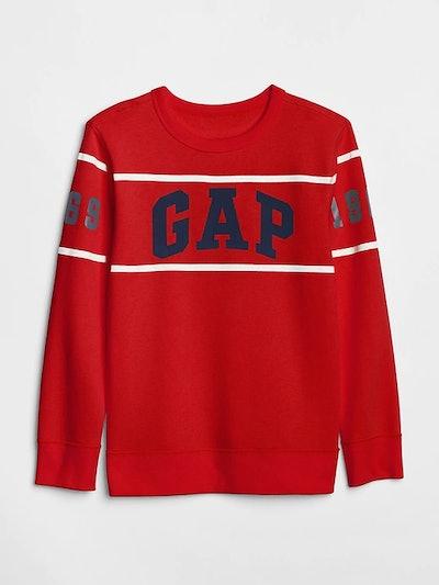 Boy's Logo Sweatshirt in Fleece