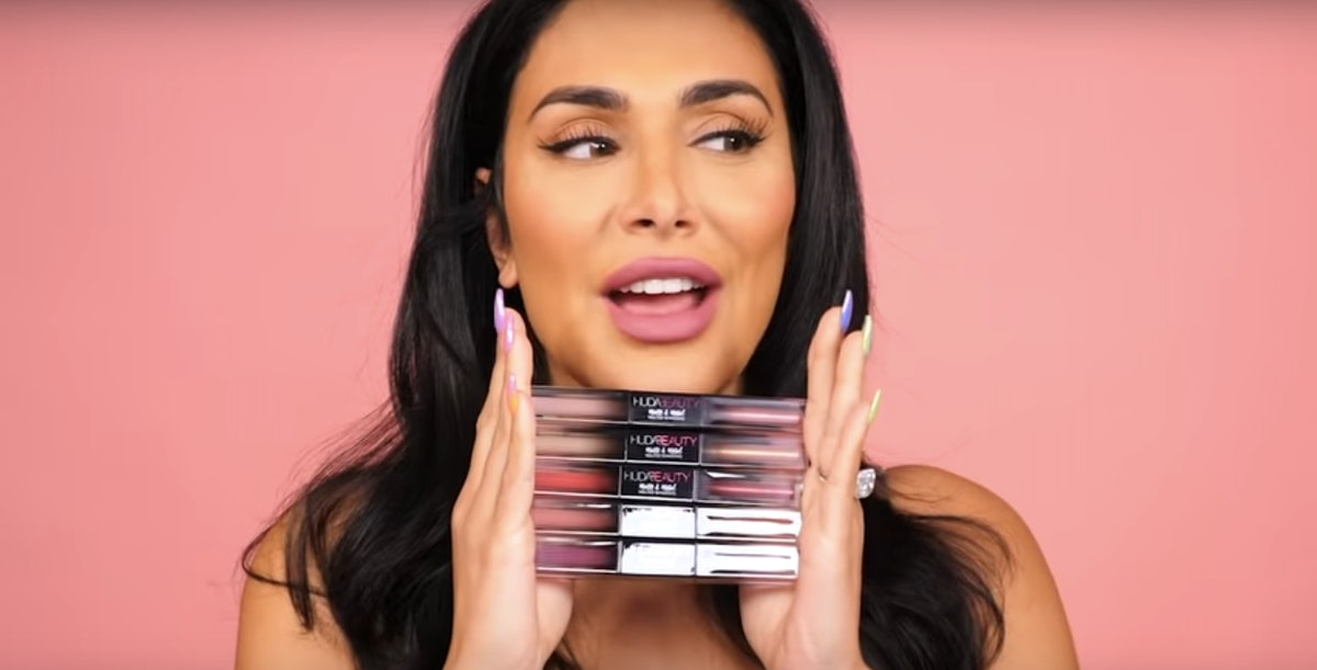 How To Use Huda Beauty's Matte & Metal Melted Eyeshadows, According To Huda Herself