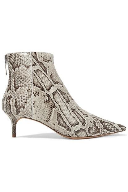Kittie Python Ankle Boots