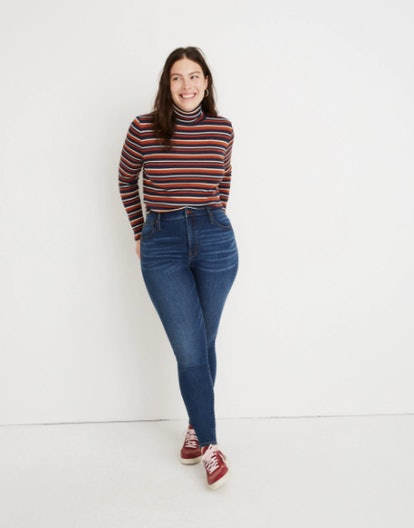 Petite Curvy High-Rise Skinny Jeans in Tarren Wash: THERMOLITE® Edition