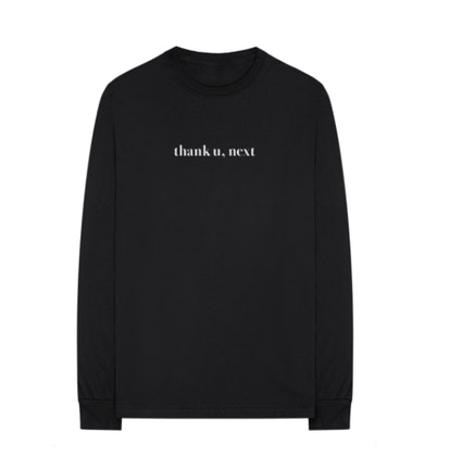 thank u, next long sleeve t-shirt + digital album