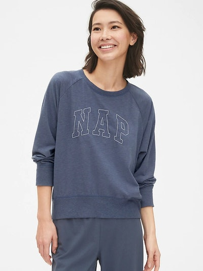 Graphic Pullover Raglan Sweatshirt