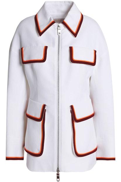 Striped Twill-Paneled Cotton Jacket
