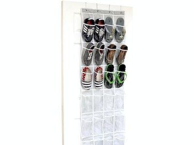 SimpleHouseware Over The Door Hanging Shoe Organizer