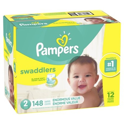 Pampers Swaddlers Diapers (148 Count)