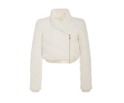 Brandon Maxwell Cropped Sweater Puffer Jacket