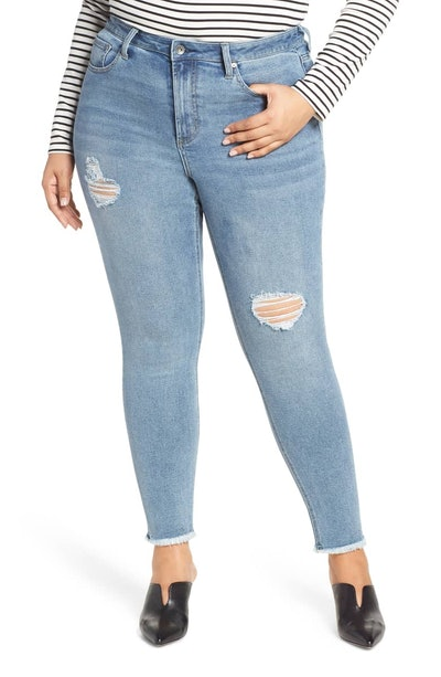 Perfect Vintage Core Ripped High Waist Skinny Jeans