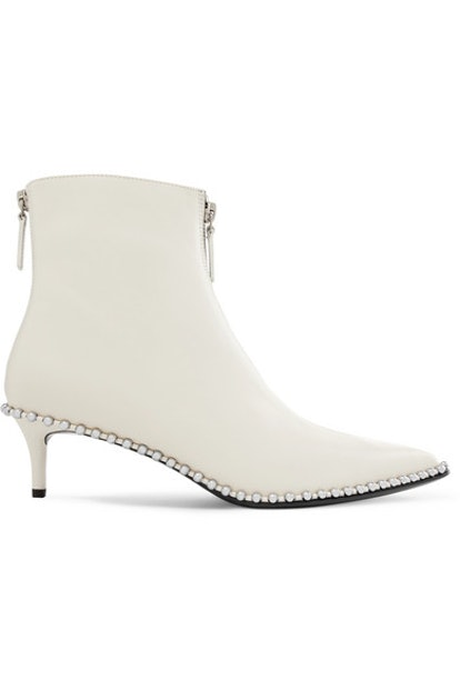 Eri Studded Leather Ankle Boots