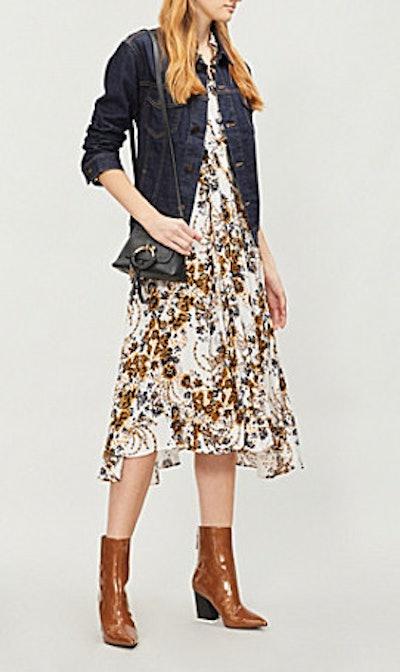 Tough Love Floral-Pattern Crepe Shirt Dress