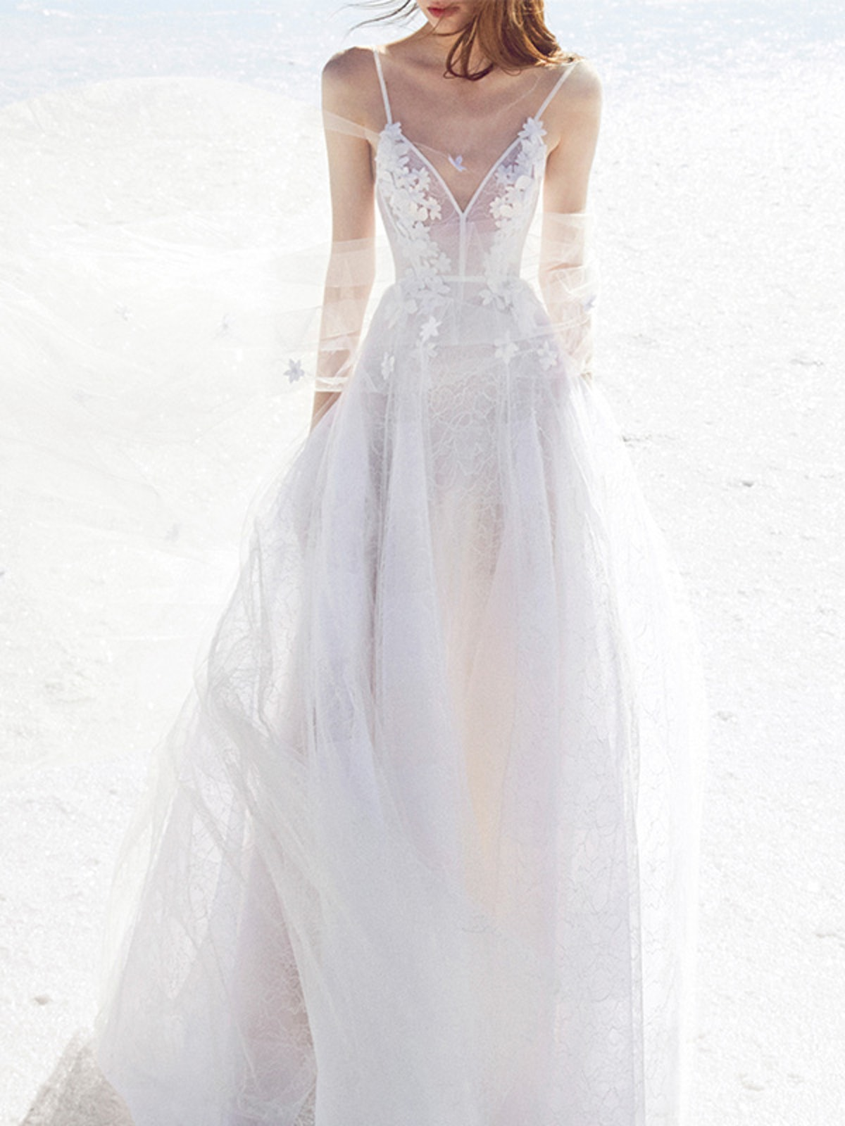 Anna Lace Floral Embellished Gown