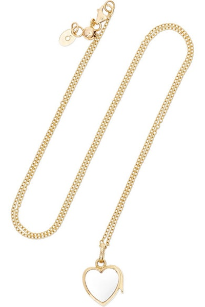 14-Karat Gold Glass Necklace