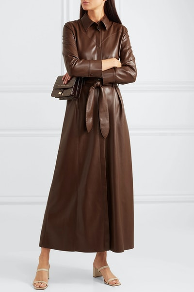Taurus Vegan Leather Maxi Dress