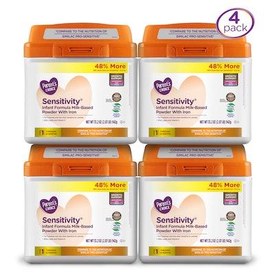 Parent's Choice HMO/NonGMO Sensitivity Infant Formula 4 Pack, 33.2oz ea