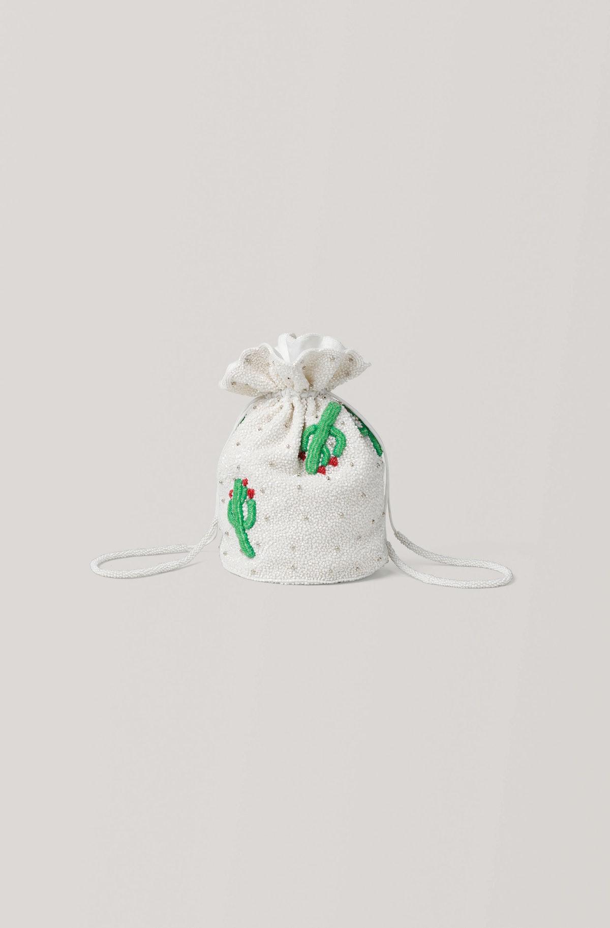 Beaded Cactus Bag