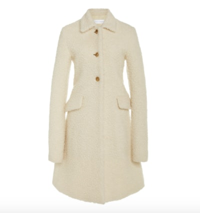 Marina Moscone Irving Wool-Blend Teddy Coat