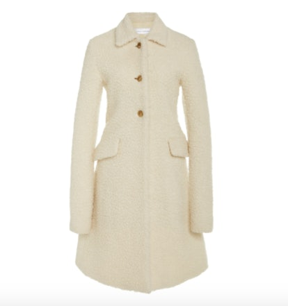 Marina Moscone Irving Wool-Blend Teddy Coat