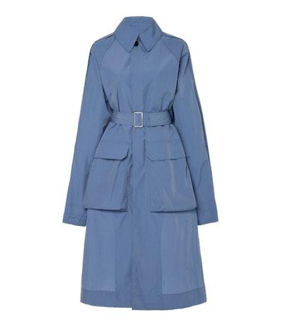 Deveaux Utility Oversized Belted Gabardine Coat