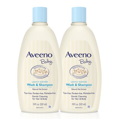 Aveeno Baby Gentle Wash & Shampoo With Oat, 18 Fl. Oz, (Twin Pack)