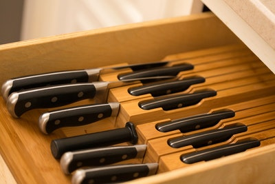 Noble Home & Chef In-Drawer Bamboo Knife Block