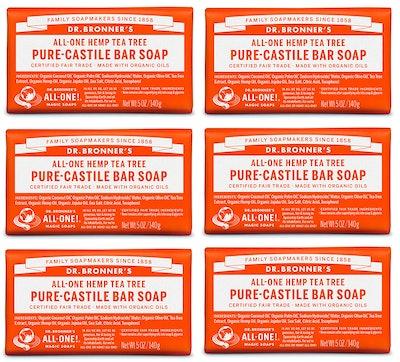 Dr. Bronner's Pure-Castile Bar Soap (6 Pack)