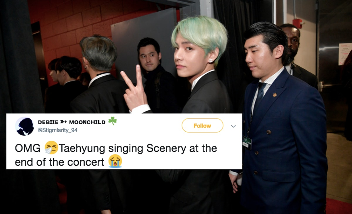 """This Video Of BTS' V Singing """"Scenery"""" Live In Fukuoka Will Give You So Many Feels"""