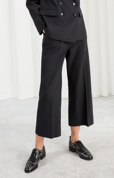 Tailored Wool Blend Pants