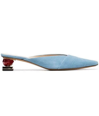 Blue Les Maceio 40 Suede Leather Mules