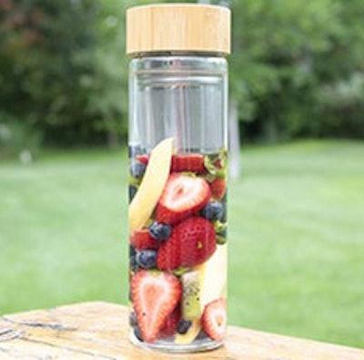 ORIGIN Best BPA-Free Fruit and Tea Infuser Borosilicate Glass Water Bottle