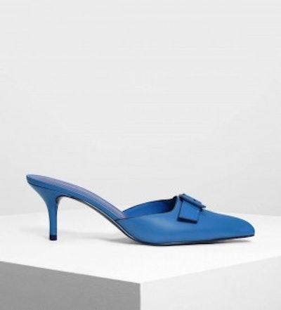 Buckle Slip-On Heels